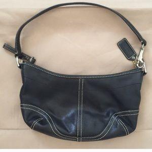 COACH Leather Shoulder Bag Black